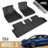 3D MAXpider L1TL00401509 All-Weather Floor Mats for Tesla Model 3 2017 2018 2019 Custom Fit Car Floor Liners, Kagu Series (1s