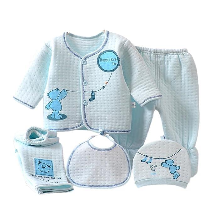 Per 5 piezas Conjuntos de Ropa para Bebé Canastilla de Algodón Ropa Interior para Primavera Otoño