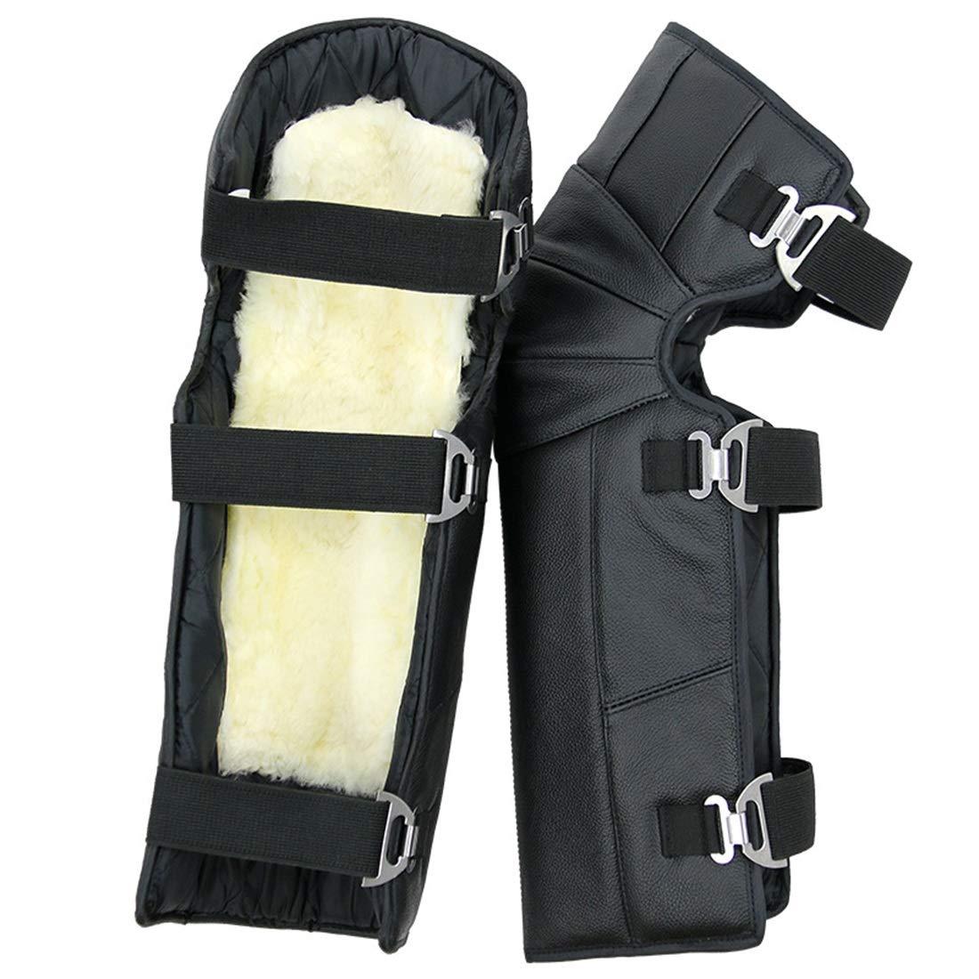 Cvthfyk Motorrad Reiten Knieschützer wasserdicht Winddicht warm Outdoor Winter Schutzausrüstung (Farbe : Schwarz)