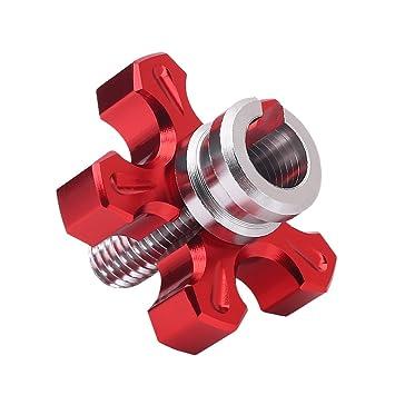 qiilu 1 par motocicleta universal CNC aluminio mecanizado tornillo de ajuste de cable de embrague: Amazon.es: Electrónica