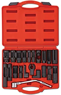PMD Products 21pc Automotive Master Oxygen O2 Sensor and Sending Unit Socket Set Tool Auto Truck