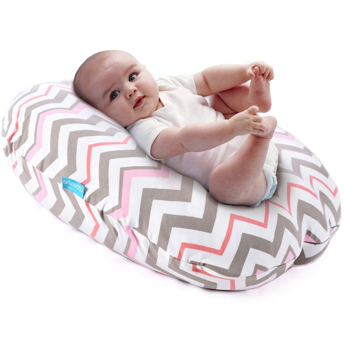 Boritar Baby Lounger Cover Removable Slipcover for Newborn Lounger Super Soft Minky Snug Fitted Grey Arrow Printed with Dotted Backing