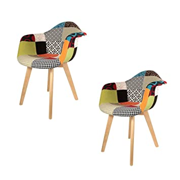 The Home Deco Factory - Juego de 2 sillones de Patchwork ...
