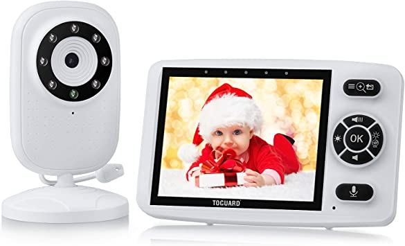 Night Vision Video Baby Monitor with Digital Camera ANMEATE Digital 2.4Ghz Wireless Video Monitor with Temperature Monitor 960ft Transmission Range 2-Way Talk High Capacity Battery 3.5inch