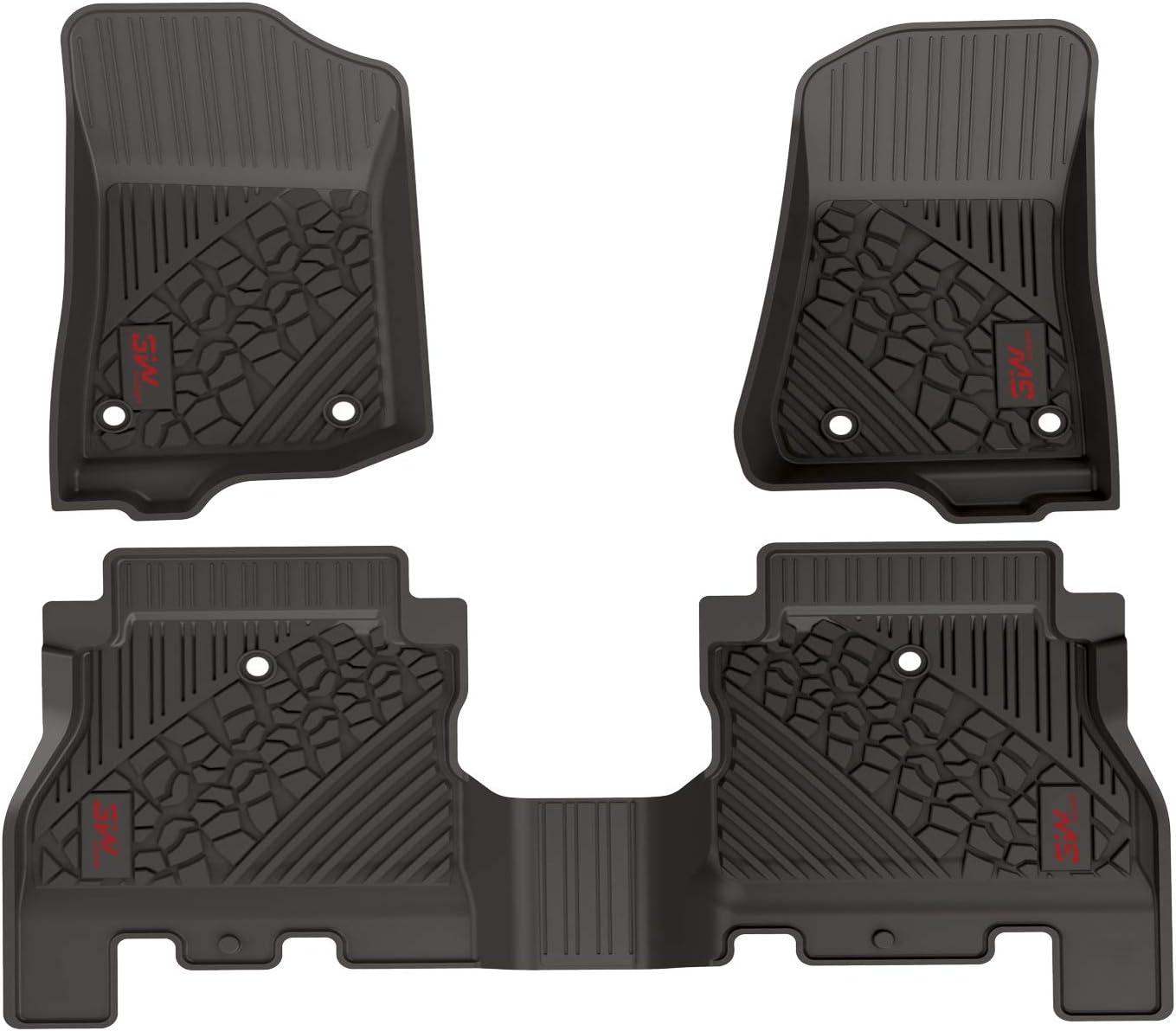 Black Coverking Custom Fit Front Floor Mats for Select Jeep J-10//J-20 Models Nylon Carpet