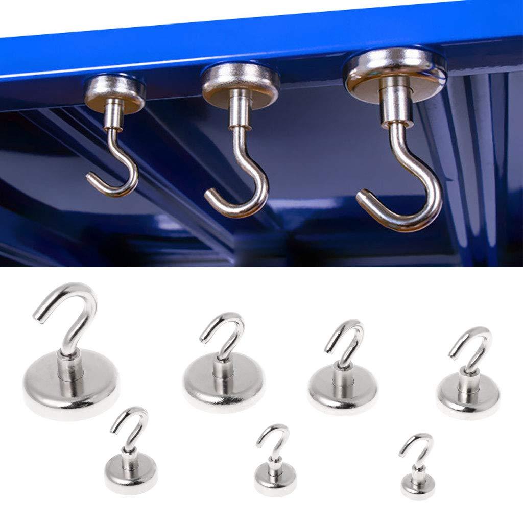 runde Haken magnetisch Starker Mini-Magnethaken f/ür Zuhause und K/üche 1