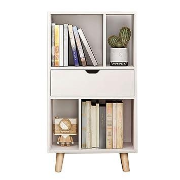 SJ Libreria Quadrata Tipo Pavimento in Legno Combinazione Libreria ...