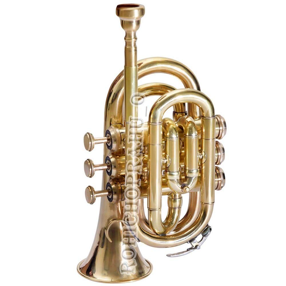 SC EXPORTS Pocket Trumpet with Carrying Case