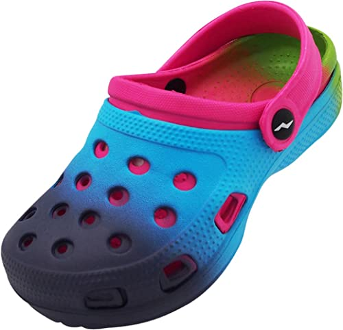 NEW Toddler Girls Water Shoes Medium 7-8 Pink Tie Dye Sandals Clogs Slip On