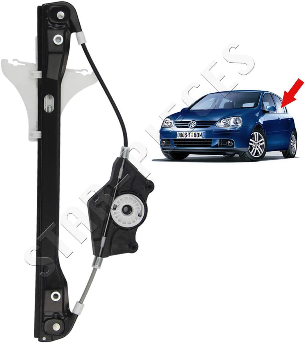 STARKIT PERFORMANCE - Mecanismo elevalunas eléctrico Trasero Izquierdo para Volkswagen Golf 5 y Jetta 3