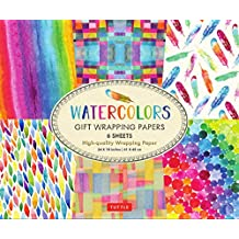 Watercolors Gift Wrapping Papers: 6 Sheets of High-Quality  24 x 18 inch Wrapping Paper