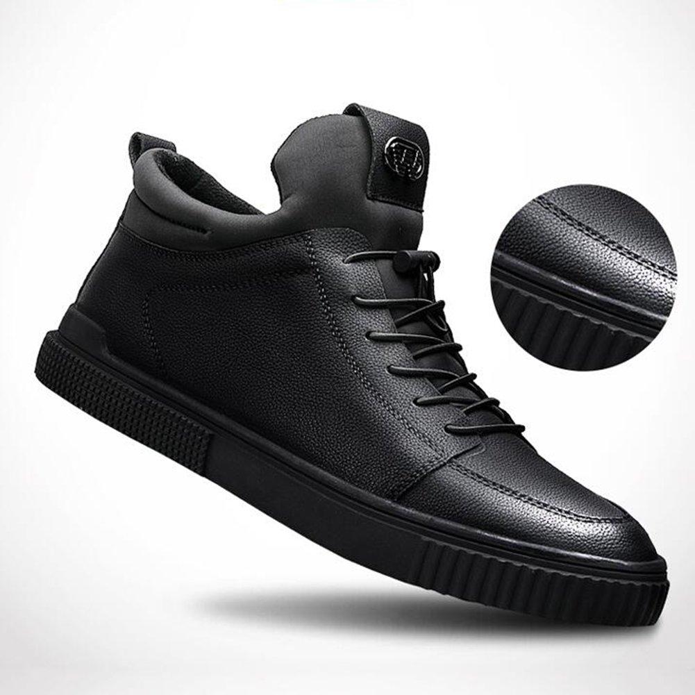 Unbekannt YIXINY Schuhe Turnschuhe Freizeit Plattenschuhe Koreanischer Winter Trendige Trendige Trendige Schuhe Rot Schwarz PU (Farbe   1, größe   EU43 UK9 CN44) 3865bd