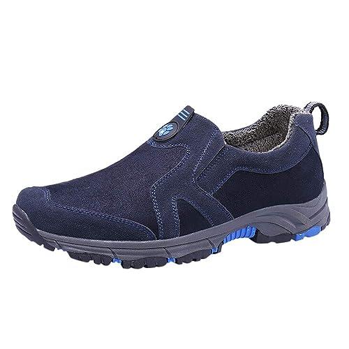 Zapatos Hombre Deportivas Hombre Ofertas Zapatillas De Gamuza De Cuero para Hombre Zapatos Cómodos para Caminar