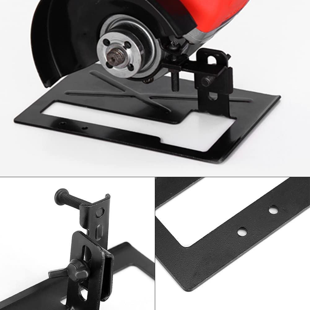 f/ácil de instalar soporte para amoladora de /ángulo de acero grueso base de m/áquina de corte Soporte para amoladora Leyeet ajustable de 2 a 3 cm