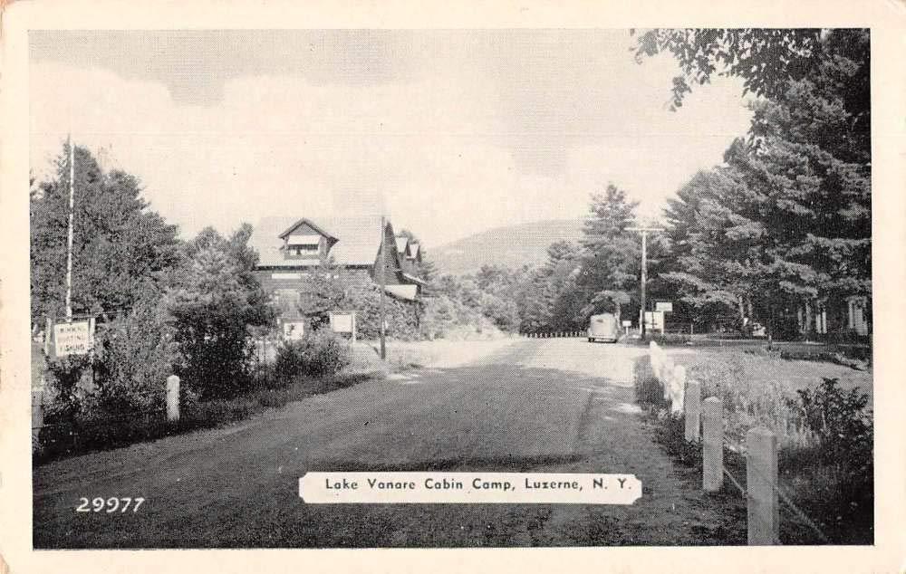 Luzerne New York Lake Vanare Cabin Camp Vintage Postcard