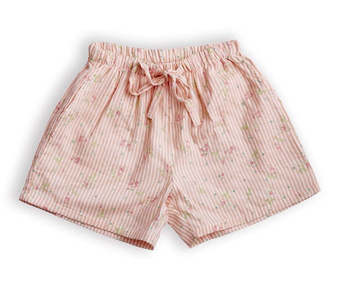 Inadays Pajama Shorts for Women Cotton Striped Shorts Women Lounge Shorts