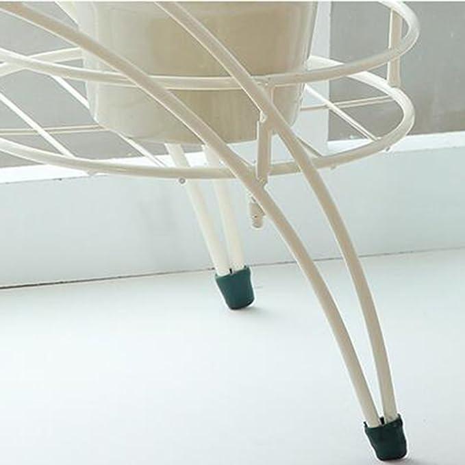 Estante de flores de madera ---- Blanco Simple Hierro De Pie Soporte De Flores Interior Exterior Balcón Portamacetas Estante De Almacenamiento En Macetas ...