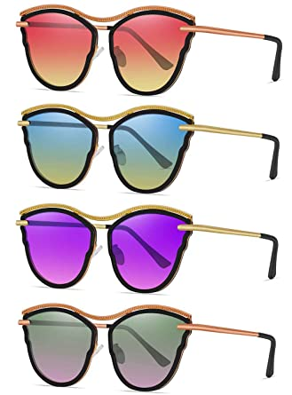 a0f8d8e4e8 Shadesfield Cat Eye Sunglasses for Women Butterfly Shape Frame with Gradient  Color UV400 Lenses (4