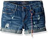 Lucky Brand Girls' Big Ronnie Cuffed Denim Short Ada wash, 12