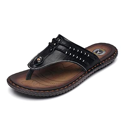 Herren Sommer Flip Flops Rund Toe Peep-Toe Zehentrenner Modische Bequeme Sandaletten Pantoletten Schwarz 39 EU Feidaeu Online-Shopping-Spielraum 87ZNWNr