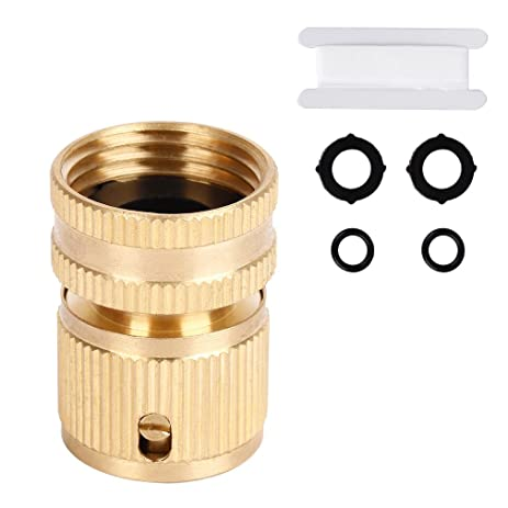 Quick Hose Connector, ITavah Heavy Duty Brass 3/4 Inch Garden Hose  Connector With