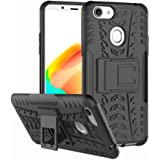 For Oppo A73 / F5 Heavy Duty Tough Kickstand Strong Shockproof TPU Case Cover (Black)