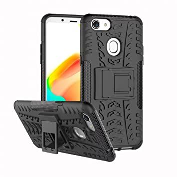 new concept 0c220 32ef0 For Oppo A73 / F5 Heavy Duty Tough Kickstand Strong Shockproof TPU Case  Cover (Black)
