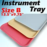 12 PC Blue Dental Instrument Tray Trays Size B