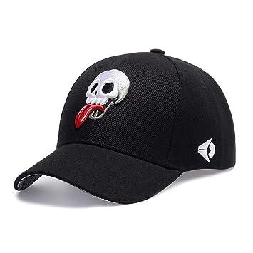 Yosrab Unisex Skull Punk Bordado Gorra de béisbol Hombres Mujeres ...