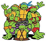 Teenage Mutant Ninja Turtles Cartoon Vinyl Sticker Decal 5'x5' Car Bumper