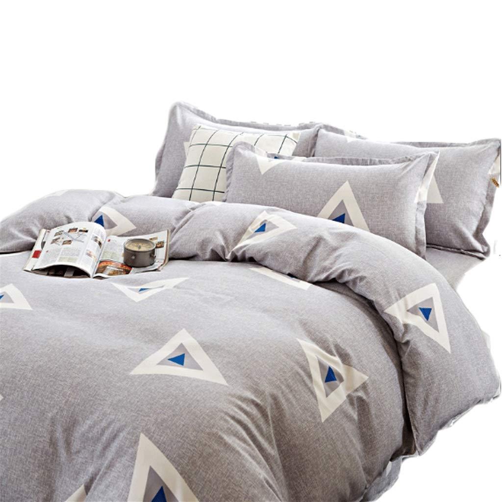 シンプルな4つのピースセットの寝具セット1.5 Mのベッドの枕カバーのキルトシート (Color : Riangle)  Riangle B07HDLPVZ7