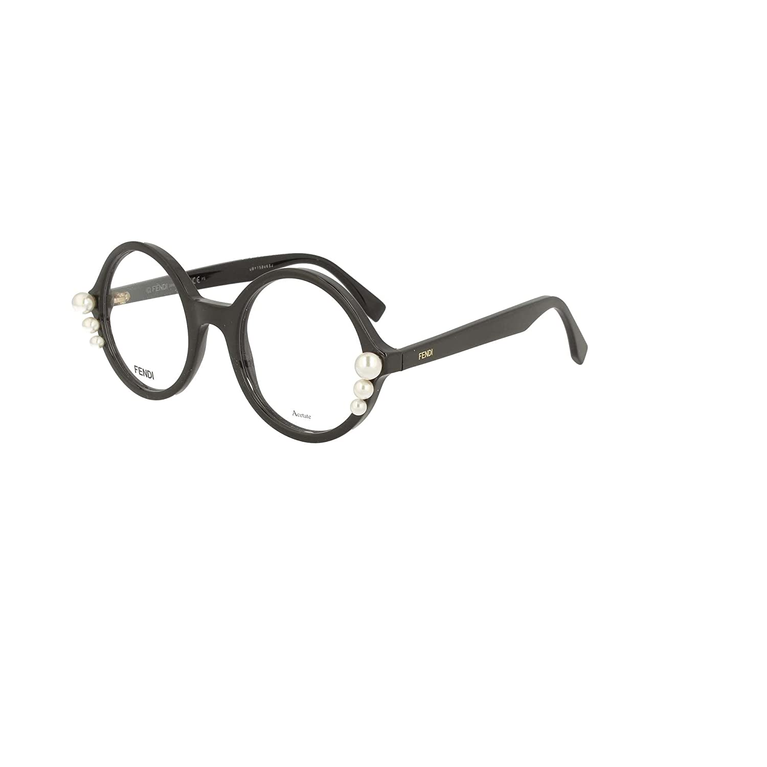 3a42099525a4 Fendi RIBBONS AND PEARLS FF 0298 BLACK women Eyewear Frames  Amazon.co.uk   Clothing