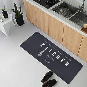 USTIDE Rubber Back Kitchen Mat Non Skid Floor Mat Laundry Room Mat Easy Clean 2x4