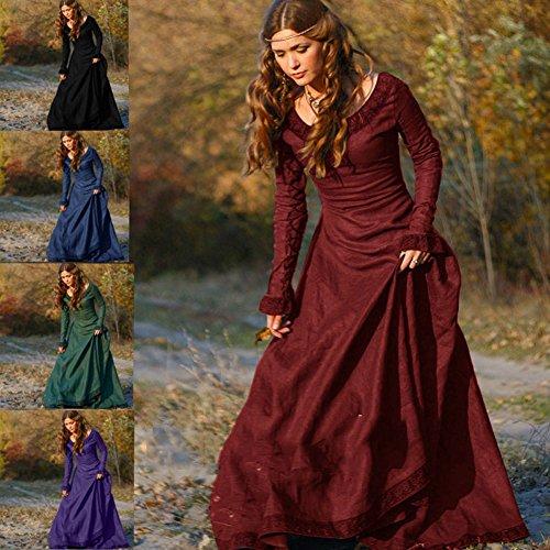 Cosplay Haut Costume Princesse Gothique Noir Dress 1950S Renaissance Mdival Robe Tunique Femmes Cru I1Oqf1