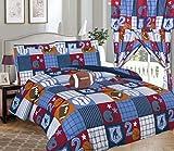 Linens And More 8 Piece Comforter Set Kids Bedroom Decor Comfort (Patchwork Sport, Full)