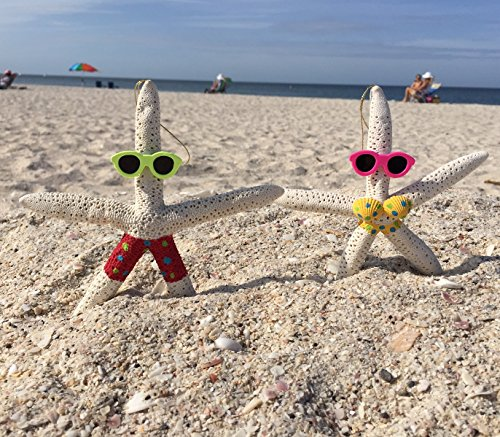 ch Couple - Holiday Ornament – Fun All Year – Perfect for Beach Christmas Tree (Starfish Christmas Ornament)