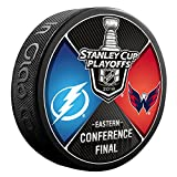 2018 Washington Capitals vs Tampa Bay Lightning Eastern Conference Finals Souvenir Hockey Puck
