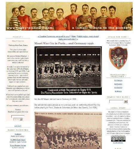 Memorabilia Rugby - Rugby Pioneers