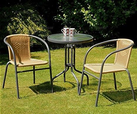 2 plazas de los bistros de mimbre muebles de jardín al aire ...