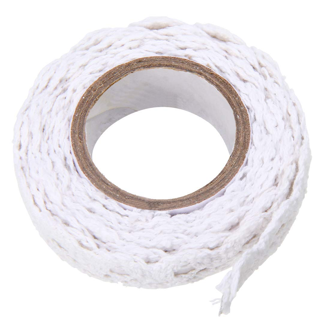 Lace Washi Tape Trim Ribbon Cotton Fabric Tape Decor Craft (White) Mayitr TRTA11A