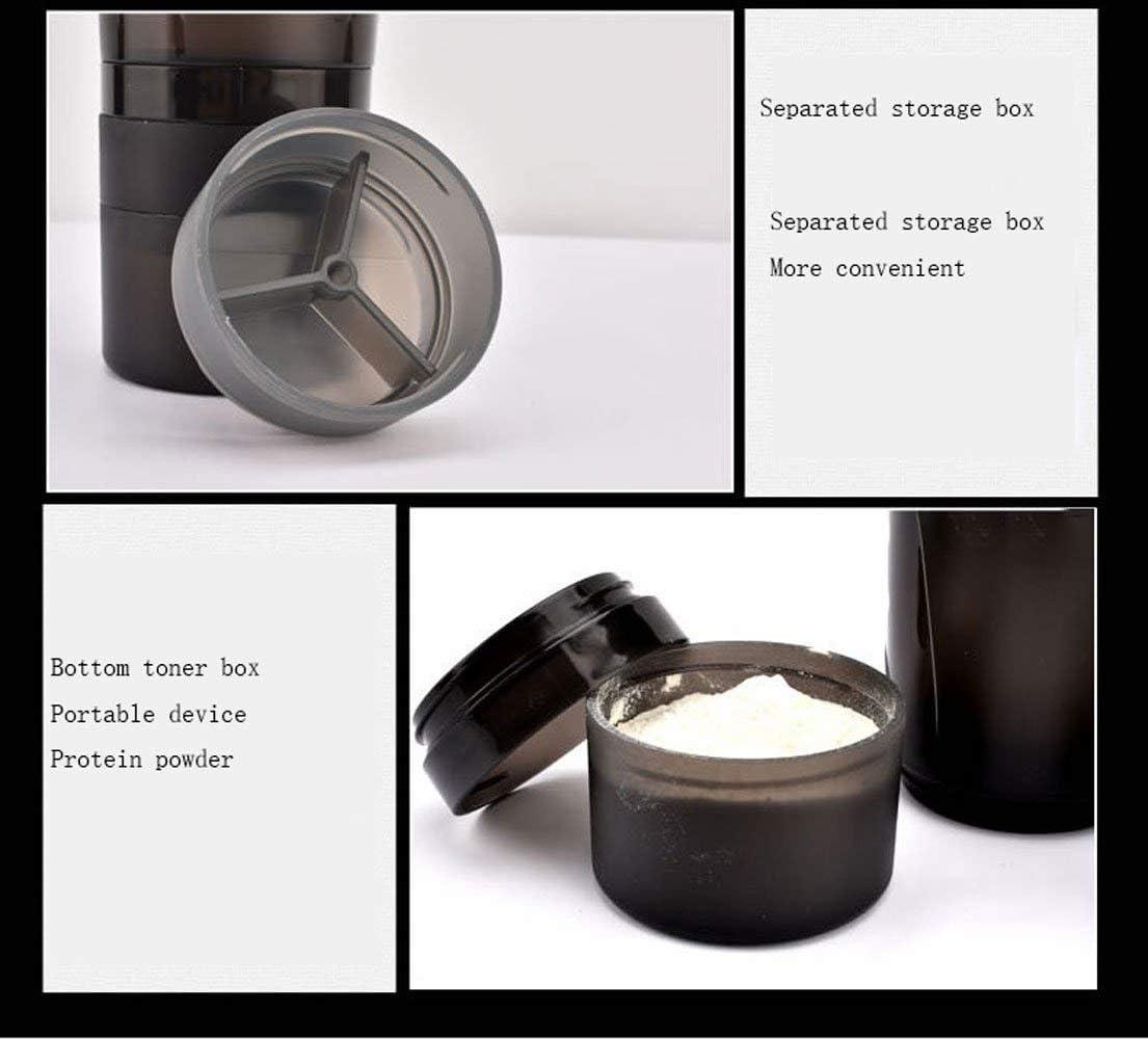 DXDRT Agitatore proteico Fitness Sport 550ml | Bottiglia di per agitatore proteico in Acciaio Inossidabile (Color : Black) Gray