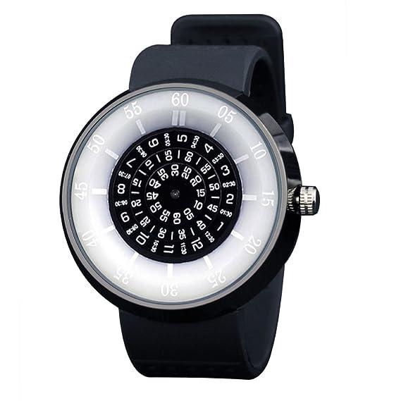 Hit de los relojes de código de color/Laminados relojes brújula digital personalizado/Relojes de Gift-B: Amazon.es: Relojes