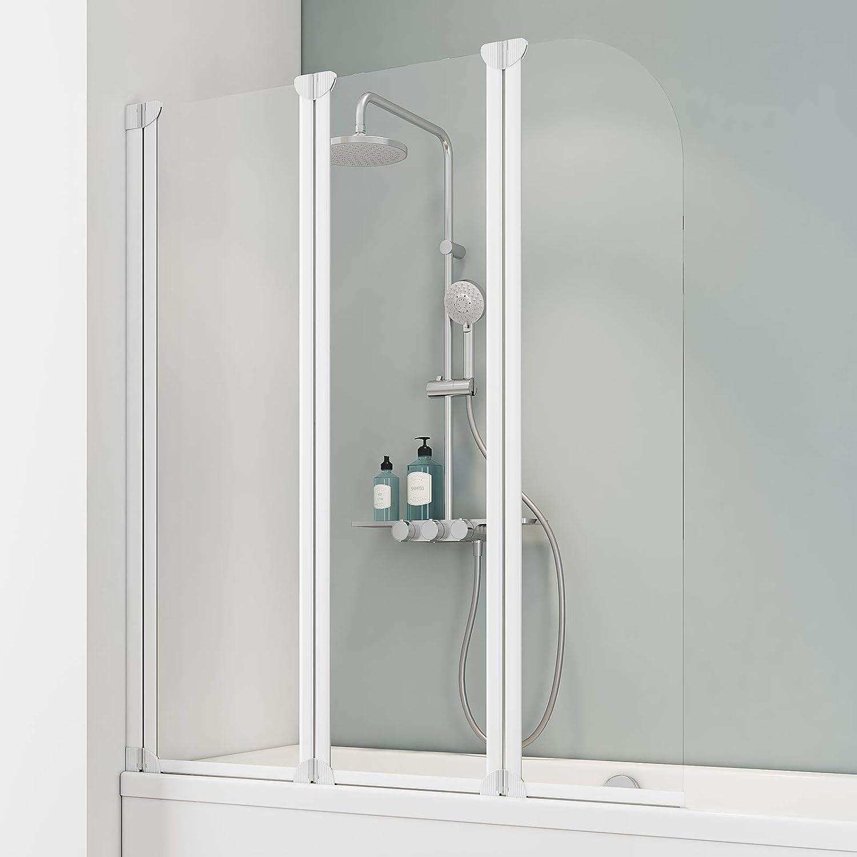 Schulte Mampara de bañera Cristal 3 Piezas 140 x 125 cm Colonia, 1 pieza, 4056397002482: Amazon.es: Bricolaje y herramientas