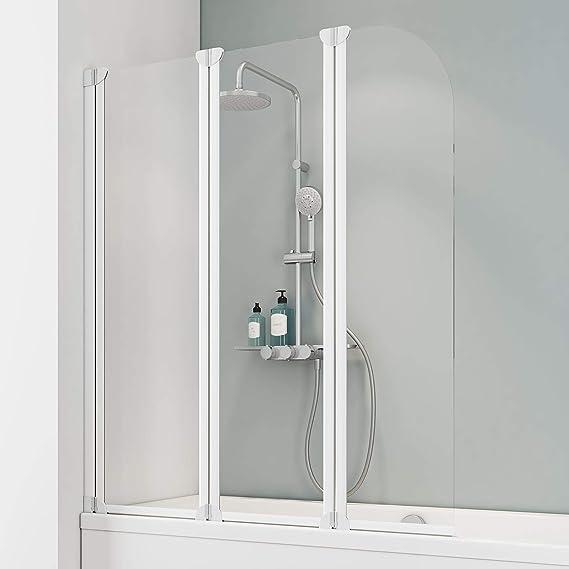 Schulte Mampara de bañera Cristal 3 Piezas 140 x 125 cm Colonia, 1 ...