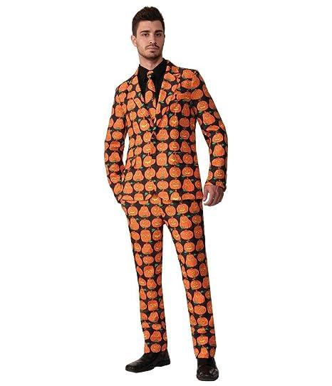 039ebdbf Amazon.com: Forum Novelties Men's Pumpkin Suit and Tie Xl Costume: Toys &  Games