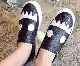 YOPAIYA Chaussures De Pêcheur All-Match Mocassins À Bout Rond Femmes Monstre Noir Appliques Muffin Chaussures Femme Confortable Chaussure Espadrilles