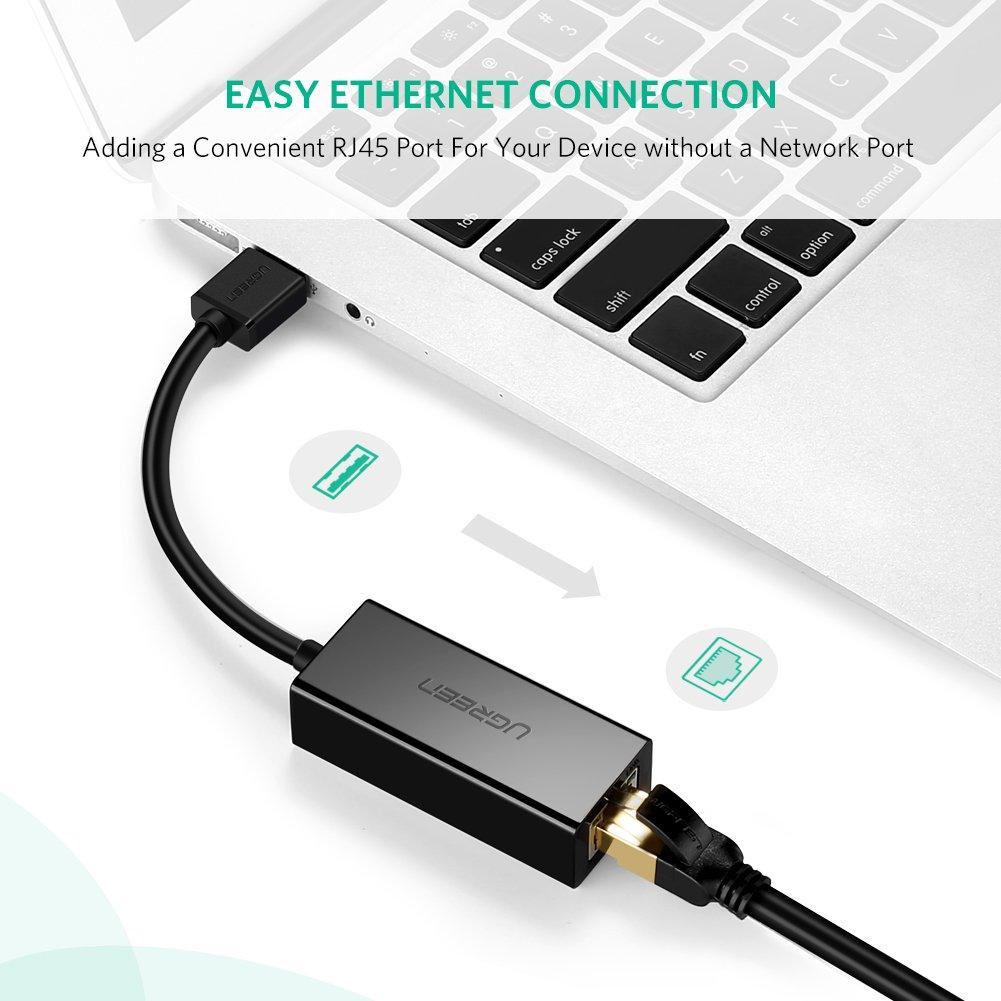 UGREEN Network Adapter USB 3.0 to Ethernet RJ45 Lan Gigabit Adapter for 10/100/1000 Mbps Ethernet Supports Nintendo Switch Black by UGREEN (Image #4)