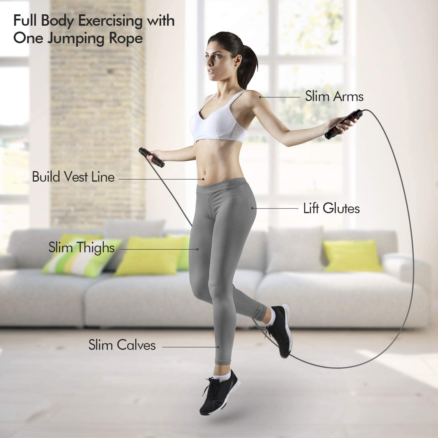 Adult adjustable skipping rope speed training home exercise skipping rope endurance training and fitness downhill rope with non-slip soft memory foam handle,professional skipping rope fitness use