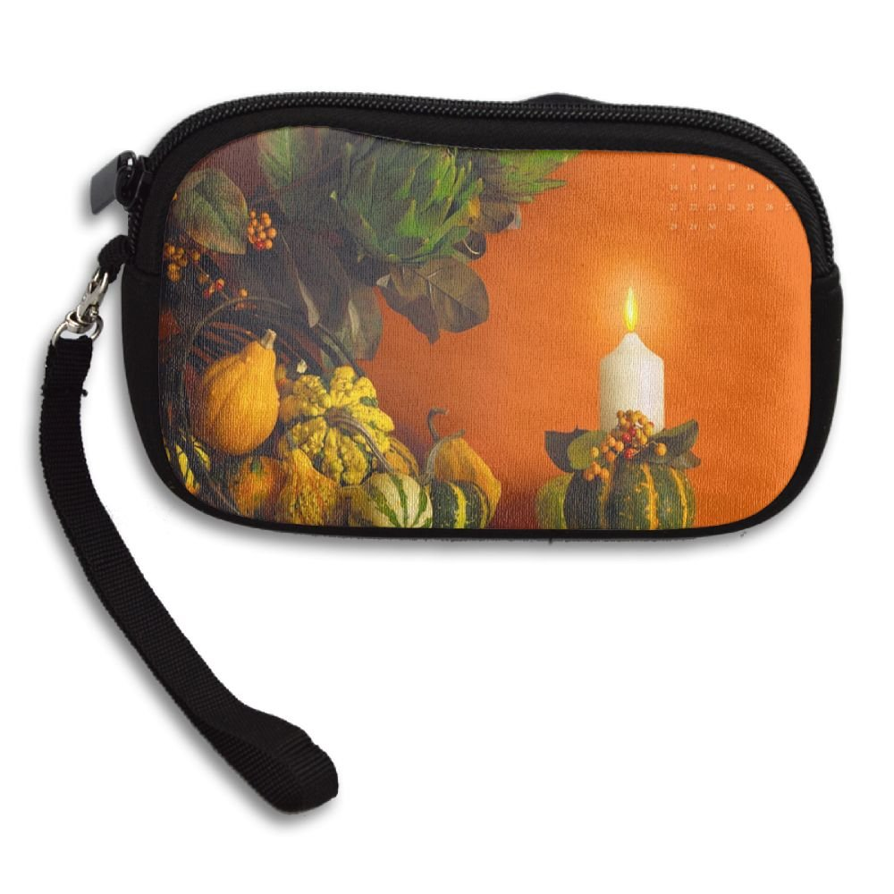 Personalized Custom Coin Purse with Thanksgiving Image Printing Two Sides