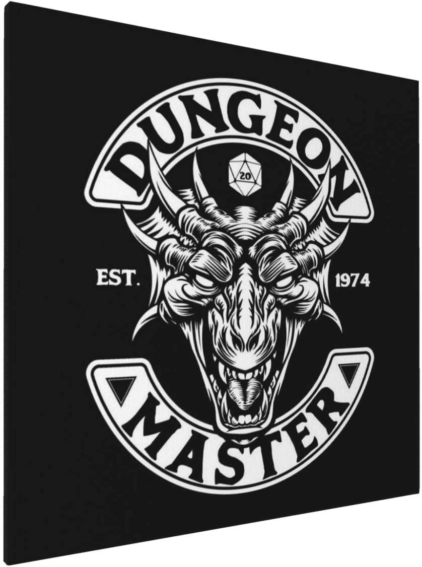 Canvas Prints Wall Art Paintings(20x20in) Dungeon Master Est 1974 Pictures Home Office Decor Framed Posters & Prints